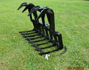 Mtl Attachments Hd 72 Skid Steer Root Grapple Bucket Twin Cylinder universal Fit