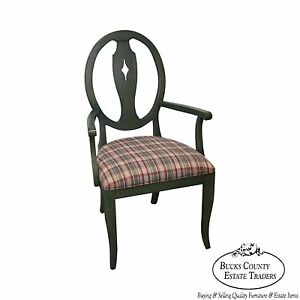 Ethan Allen Country Colors Green Painted Arm Chair