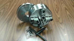 8 4 jaw Self centering Lathe Chuck Top bottom Jaws W D1 4 Adapter Plate new