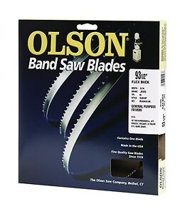 Olson 14593 Band Saw Blade 93 1 2 Long X 1 4 Wide 025 Thick 6 Tpi