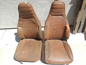 Porsche 911 930 Front Seats left And Right With Seat Rails fl 2