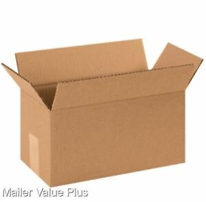 100 10 X 5 X 5 Corrugated Shipping Boxes Packing Storage Cartons Cardboard Box