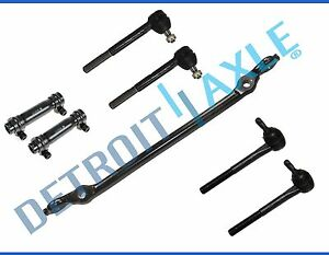 7pc Kit 4 Inner Outer Tie Rod End 2 Adjustment Sleeve Center Link 2wd Only
