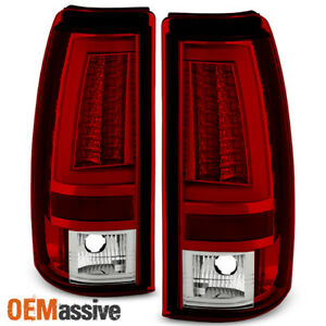 2003 2006 Chevy Silverado Gmc Sierra 1500 2500hd 3500 Red Led Tube Tail Lights