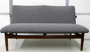Beautiful Mid Century Modern Finn Juhl Japan Sofa Settee Very Rare