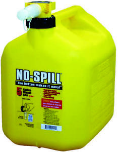 No spill 1457 Diesel Gas Can 5 Gal 15 In H Plastic Yellow