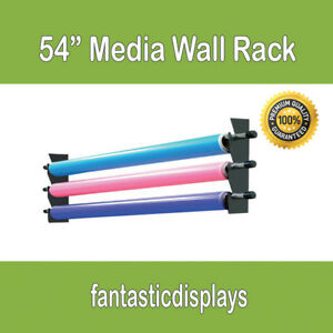 54 Wall Media Storage Rack Vinyl Rolls Fabric For Sign Shops And Printing