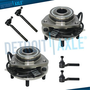 New 6pc Front Complete Wheel Hub And Bearing Suspension Kit For Blazer 4x4