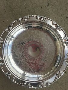Vintage Silverplate Cake Stand Grape