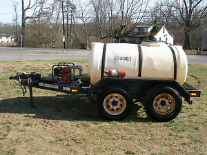 2006 Waterdog 500 Gallon Water Tank Trailer And Honda Pump With Title
