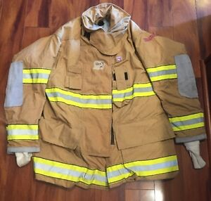 Firefighter Turnout Bunker Coat Globe G extreme 46x35 Euc Costume