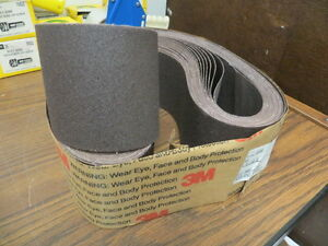4 X 60 3m Resin Bond Cloth Sanding Belts 80x Grit New 20 Pcs