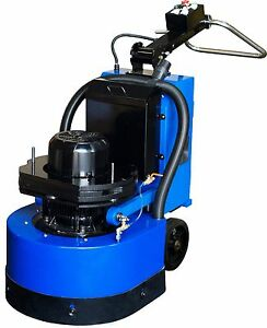 Concrete Floor Grinder For Terrazo Marble Concrete 5hp Siemens Motor 3 Heads