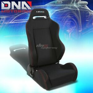 Nrg Type r Black stitch Fully Reclinable Sports Deep Racing Seat slider Right