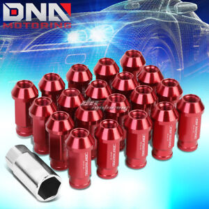 20 Pcs Red M12x1 5 Open End Wheel Lug Nuts Key For Lexus Is250 Is350 Gs460