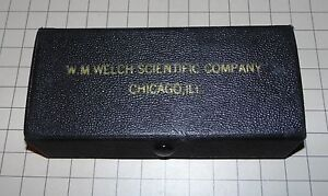 Vintage W m Welch Scientific Company 0 1 Micrometer Chicago Ill