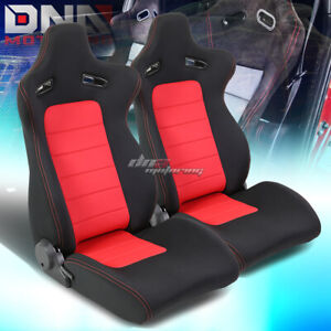Pair Type xl10 Red black Sports Racing Seats mounting Slider Rails Left right