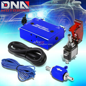 Universal Dual Stage Turbo Charger Manual Bypass Psi Boost Controller Switch Blu