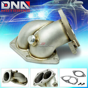 Evo Vi viii ix 4g63t Cast Stainless Steel Turbo Downpipe Outlet Elbow Exhaust