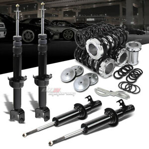 Dna For Civic Crx Suspension Gas Shocks Scale Adjustable Coilover Black Springs