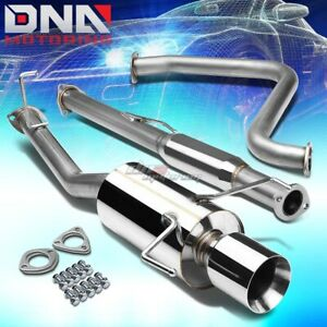4 Rolled Tip Stainless Steel Exhaust Catback System For 97 01 Prelude H22a4 Bb6
