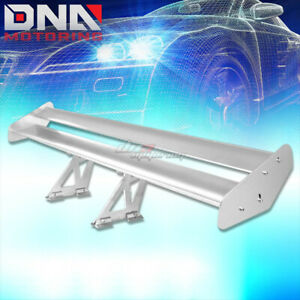 Gt 55 Lightweight Powder Coated Trunk Double Deck Racing Spoiler Wing Silver
