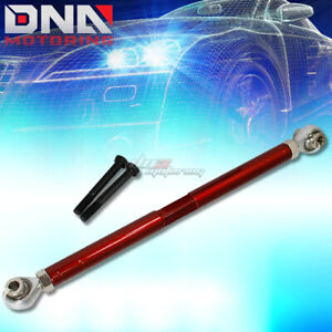 For 89 98 Nissan 240sx Red Adjustable Rear Lower Traction Support Tie Rod Bar