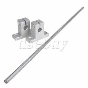 Horizontal Rail Shaft Support 400mm Long 8mm Cylinder Liner Axis Set