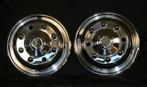 Freightliner Fl 60 70 19 5 8 Lug Front Pair Wheel Liners Simulators Hubcaps New