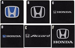 New Black Floor Mats 2013 17 Honda Accord Set Of 4 Front Rear Choice Of Logo