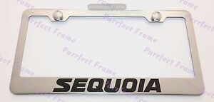 Toyota Sequoia Stainless Steel License Plate Frame Rust Free W Bolt Caps