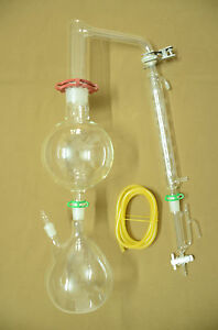 Essential Oil Steam Distillation Kit allihn Condenser includes All The Clamps