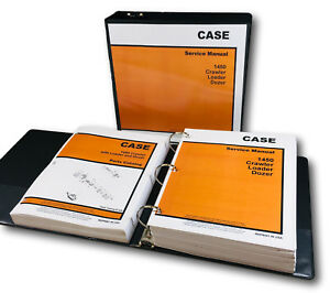 Case 1450 Crawler Loader Dozer Service Manual Parts Catalog Shop Book Repair