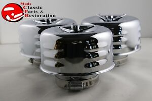 Mushroom Louvered Concave Air Cleaners 2 5 8 Truck Hot Rat Rod Gasser 3 Wing Nut