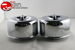 Mushroom Smooth Low Profile Air Cleaners 2 5 16 Truck Hot Rat Rod Gasser 3 Wing