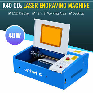 Water break Protection 40w Co2 Laser Engraver Crafts Cutter W Panel Control