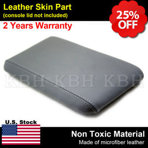 Leather Center Console Lid Armrest Cover Fits For Ford Ranger 1998 2004 Gray