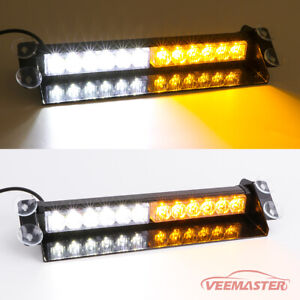 32 Hazard Emergency Warning Traffic Advisor Flash Strobe Light Bar Red White