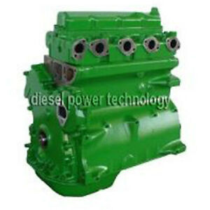John Deere Nat Aspirated Remanufactured Diesel Engine Long Block Or 3 4 Engine