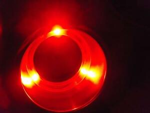 5pcs 3 Red Led Light Stainless Steel Boat Rv Cup Drink Holder Hole Size 3 5 8