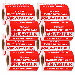 4000 Pieces 3 X 5 Handle With Care Fragile Label Sticker Self Adhesive Warning