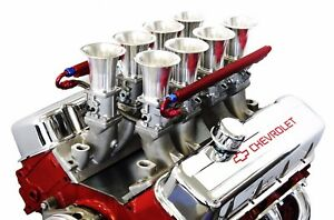 Bbc Satin Aluminum Efi Fuel Injection Hilborn Style Down Draft Intake Kit Chevy