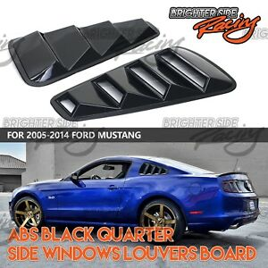Fits 05 09 Ford Mustang 2pc Abs Gloss Black Side Window Louvers Racing Look Usa