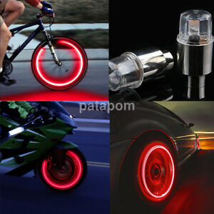 1 Pair Red Neon Tire Wheel Valve Led Light Lamp For Car Bike Bicycle Motorcycle