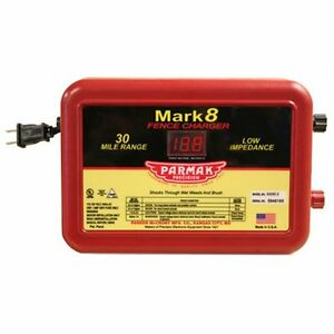 Parmak Mark8 Low Impedance 110 120 volt 30 mile Range Electric Fence Charger