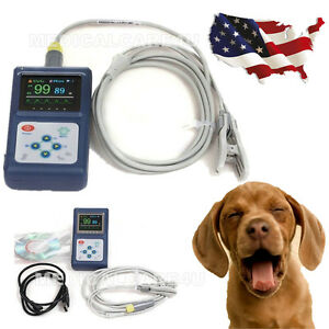 Fda Handheld Veterinary Pulse Oximeter Spo2 Tongue Probe Oled Pulse Rate Monitor