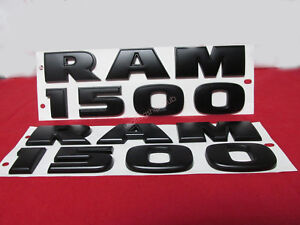 2pcs Oem Black Dodge Ram 1500 Emblem Badge Nameplate 3d Decal Matte New 1fu