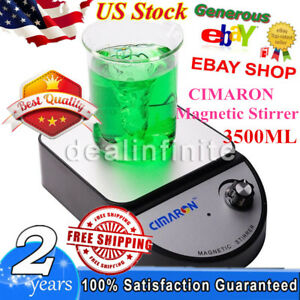 Cimaron Laboratory Magnetic Stirrer Mixer Tool Ac100 240v 3500ml Black Us Stock