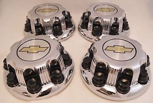 4 New Chevy Express Van 2500 3500 Chrome Center Hub Caps 9597163 8 Lugs 9597163