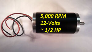 12 vdc 5000 rpm Permanent magnet Servo Electrical motor 8mm Keyed Project 1 2 hp